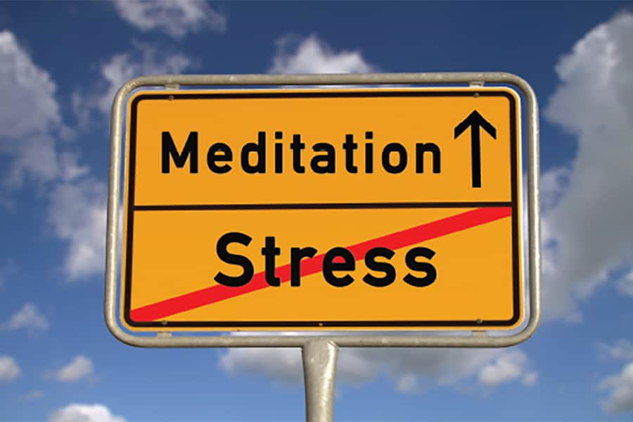 Meditation Stress Sign