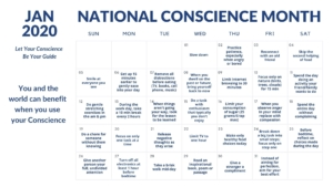 January Conscience Month Guide