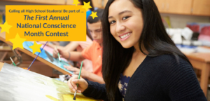 National Conscience Month Scholarship Contest High Schoolers