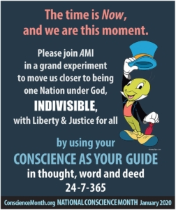 National Conscience Month Please Join Us in a Grand Experiment