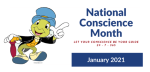 National Conscience Month January 2021