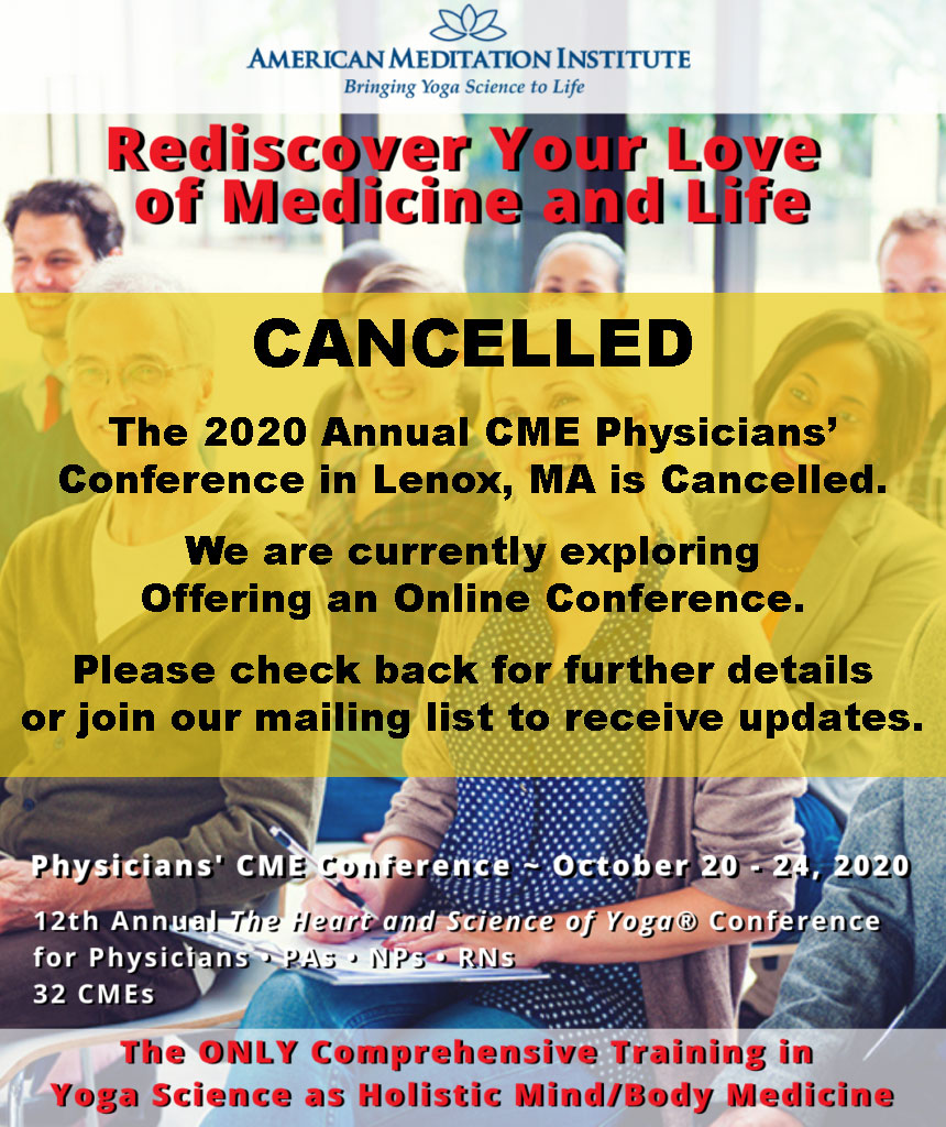 CME Conference cancelled