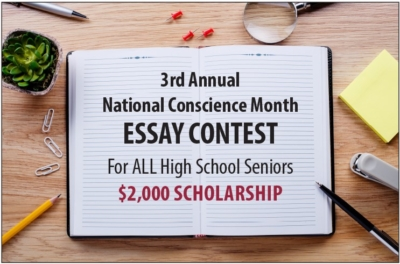 3rd Annual National Conscience Month Essay Contest